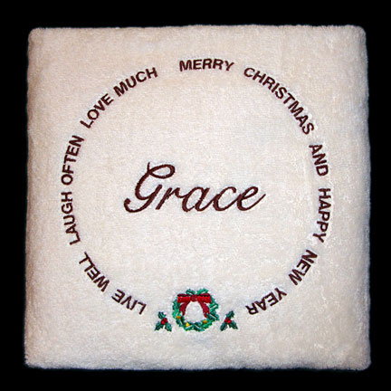 Christmas Bath Towel